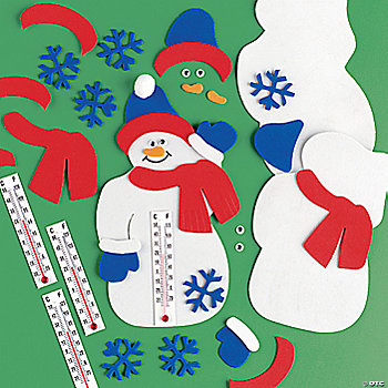 Snowman Thermometer Craft Kit