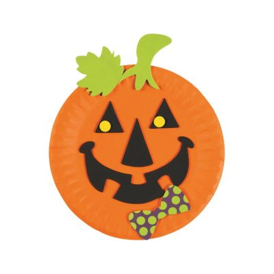 quickview · image of Paper Plate Jack-Ou0027-Lantern Craft Kit with sku48  sc 1 st  Oriental Trading & Paper Plate Scarecrow Craft Kit