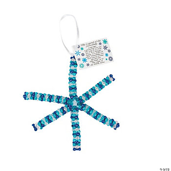"Beaded ""Legend Of The Snowflake"" Ornament Craft Kit"