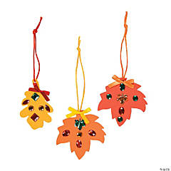 Rhinestone Fall Leaf Craft Kit