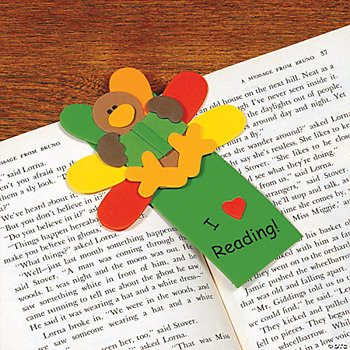 "Foam Thanksgiving ""I Love Reading!"" Bookmark Craft Kit"