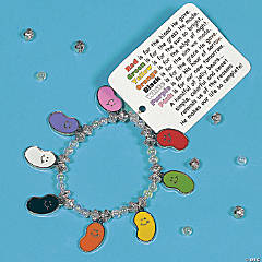 Faith Jelly Bean Charm Bracelet Craft Kit