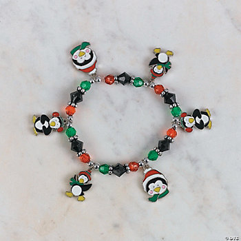 Beaded Penguin Charm Bracelet Craft Kit