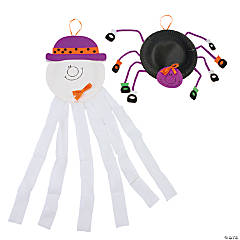 Paper Plate Ghost & Spider Craft Kit