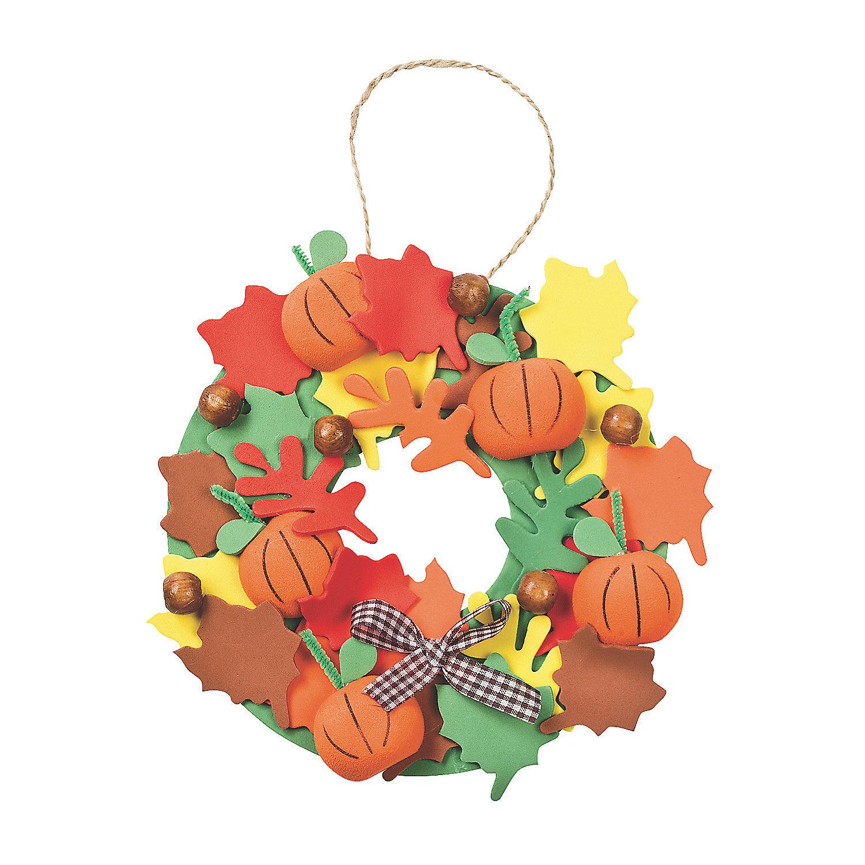 Burlap Home Decor Ideas 3d Pumpkin Wreath Craft Kit Oriental Trading