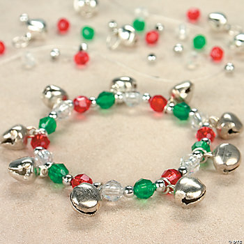 Beaded Jingle Bell Charm Bracelet Craft Kit