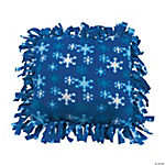 Fleece Winter Tied Pillow Craft Kit