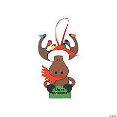 """Merry Chrismoose"" Ornament Craft Kit"