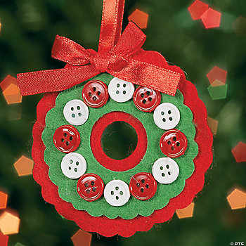 Button Wreath Ornament Craft Kit
