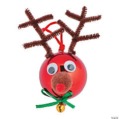 Reindeer Ball Christmas Ornament Craft Kit
