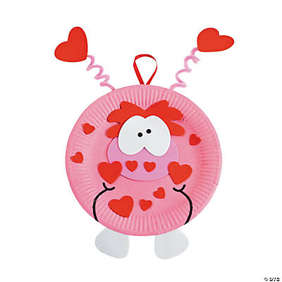 Paper Plate Valentine Monster Craft Kit