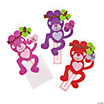 Valentine Monkey Clip Bookmark Craft Kit