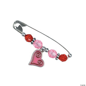 Beaded Valentine Charm Pin Craft Kit