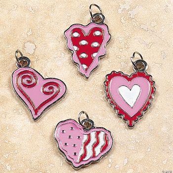 Valentine Heart Charms
