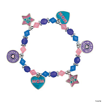 """Mom"" Charm Bracelet Craft Kit"