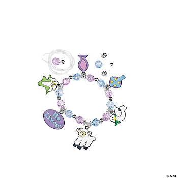 Beaded Easter Inspirational Charm Bracelet Craft Kit