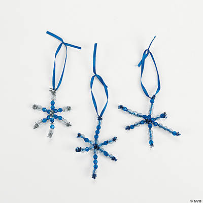 Beaded Snowflake Ornament Craft Kit