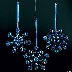 Rhinestone Snowflake Ornament Craft Kit