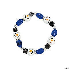 Beaded Snowman Bracelet Craft Kit