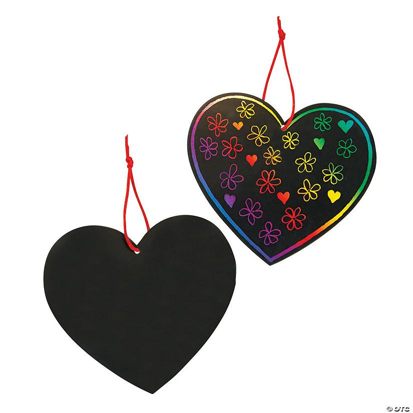 Color Scratch Hearts