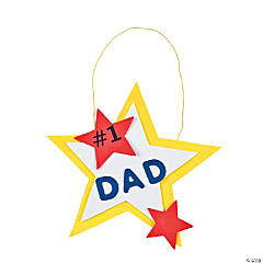 "#1 Dad"" Hanging Decoration Craft Kit"