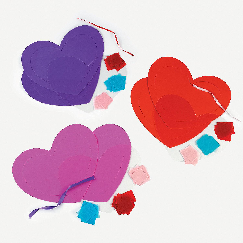 Tissue Paper Heart Craft Kit