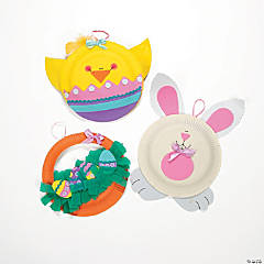 Paper Plate Easter Character Craft Kit