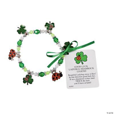 Ladybug Shamrock Charm Bracelet Craft Kit