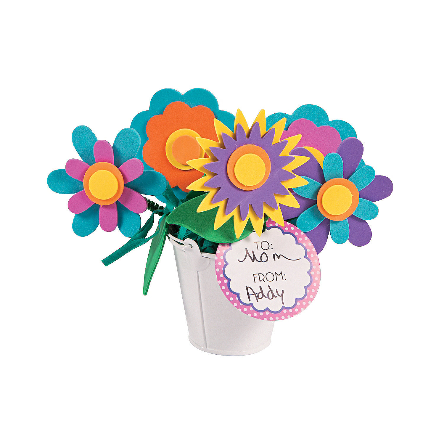 Flowers for mom bouquet craft kit oriental trading for Mother s day craft kits