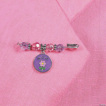 """Mom"" Beaded Charm Pin Craft Kit"