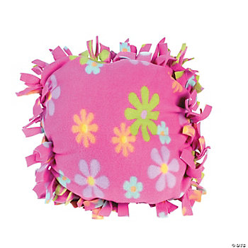 Fleece Flower Tied Pillow Craft Kit