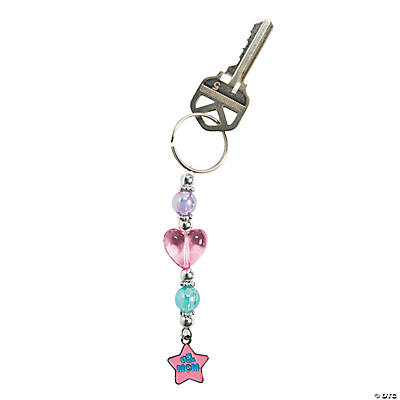 """#1 Mom"" Beaded Key Chain Craft Kit"