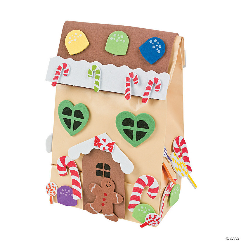 Paper gingerbread house gift bag craft kit discontinued for Craft paper gift bags