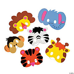Foam Zoo Animal Mask Craft Kit