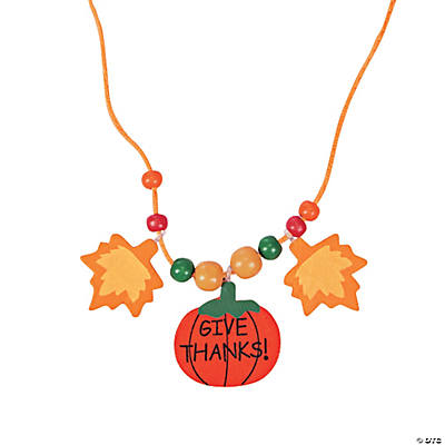 Beaded Thanksgiving Necklace Craft Kit