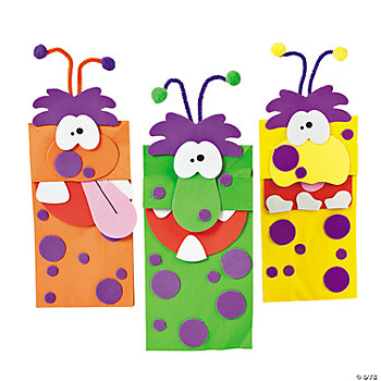 Paper Bag Monster Puppet Craft Kit