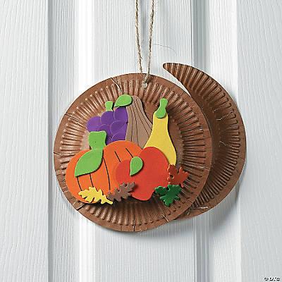 paper plate foam cornucopia craft kit oriental trading