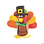 Foam & Wooden Turkey Flowerpot Craft Kit