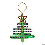 Craft Stick Christmas Tree Ornament Craft Kit