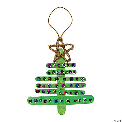 Wooden Christmas Tree Ornament Craft Kit