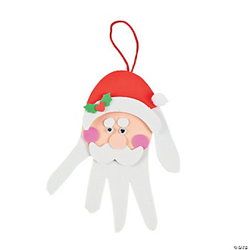 Handprint Santa Decoration Craft Kit
