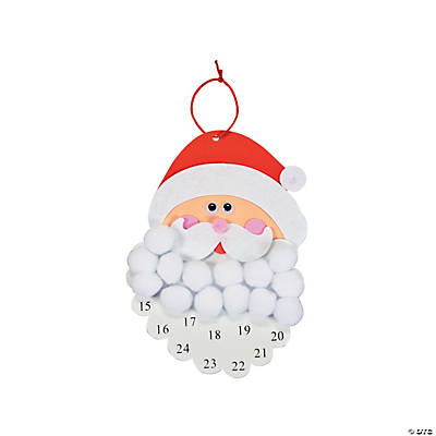 Santa Pom-Pom Countdown Calendar Craft Kit