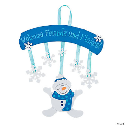 Snowman Welcome Sign Craft Kit