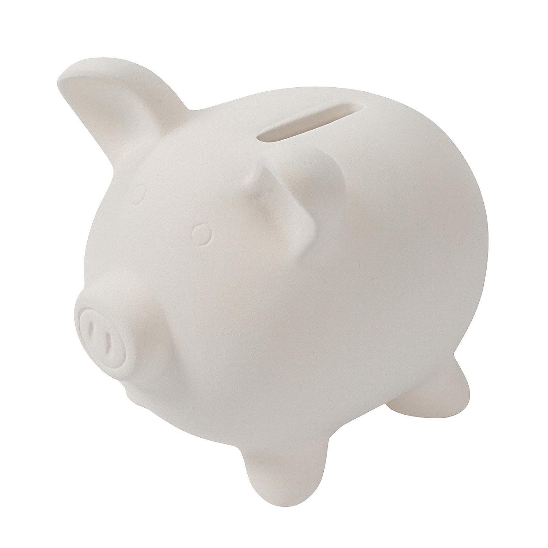 Diy ceramic piggy banks oriental trading for How to paint a ceramic piggy bank