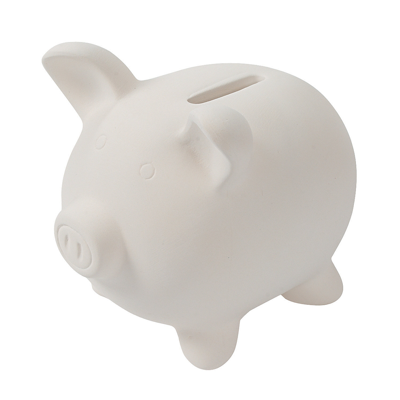 Diy ceramic piggy banks oriental trading for Make your own piggy bank