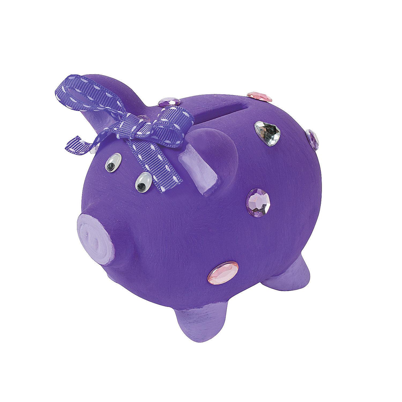 Diy ceramic piggy banks oriental trading for Piggy bank craft