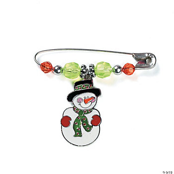Beaded Snowman Charm Pin Craft Kit