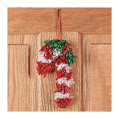 Tissue Paper Candy Cane Craft Kit