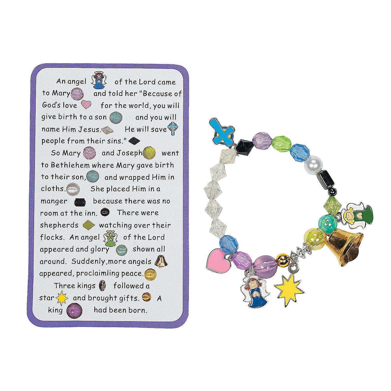 beaded nativity story charm bracelet craft kit