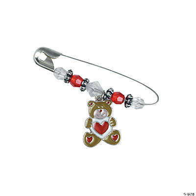 Beaded Valentine Bear Charm Pin Craft Kit